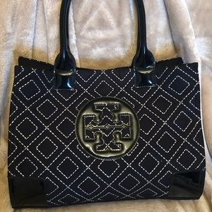 Tory Burch Black Quilted Bag